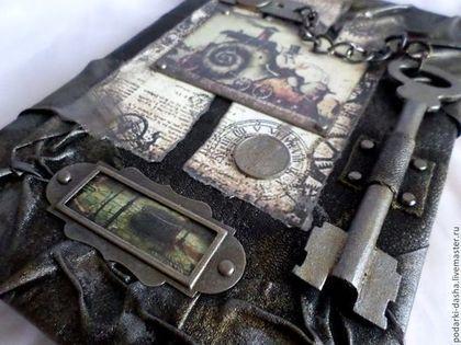 Подарки для мужчин, ручной работы. Ярмарка Мастеров - ручная работа Мужской кожаный ежедневник СТИМПАНК ключ большой. Handmade.