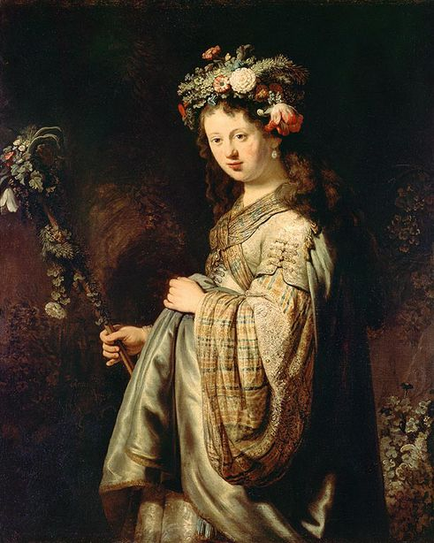 Флора -  Рембрандт   - 1024x768