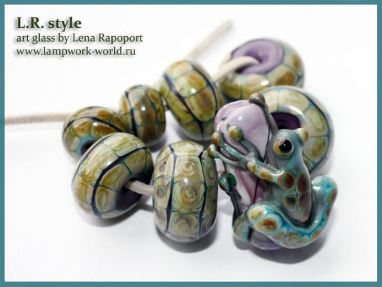 lampwork-world, лягушка бусина лэмпворк