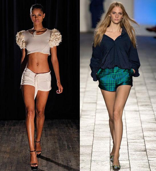 Модные мини-шорты весна-лето 2014 от Katie Gallagher и Paul Smith