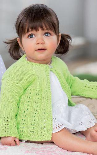 Вязание спицами детский жакет для маленькой девочки 1 год
