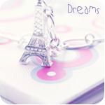 Брелок эйфелева башня (dreams)