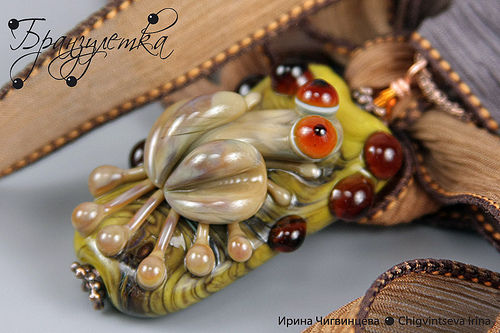 """Pendant """"Frog on a tree"""""""