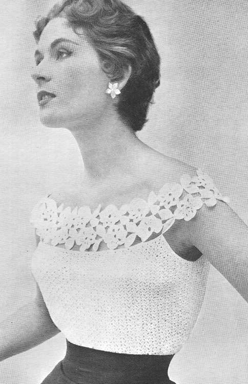 1955 Glamorous Evening Blouse Vintage Crochet Pattern PDF 089 on Etsy, $3.75 - light blue silk blouse, long sleeve blouses for work, womens pink shirts blouses *sponsored <a href=