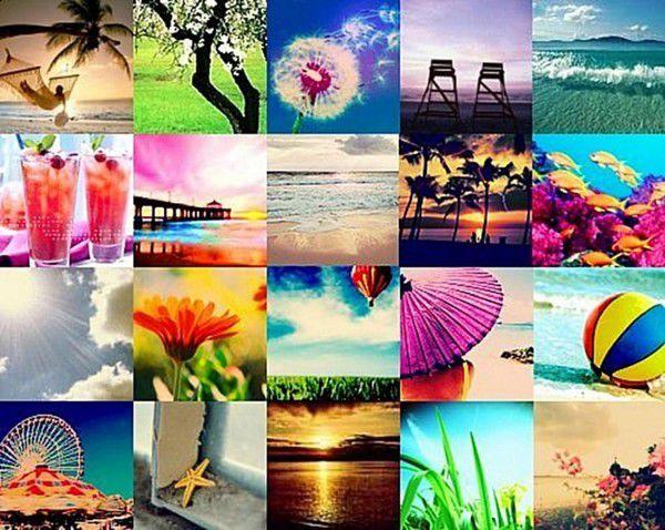 Коллаж лето