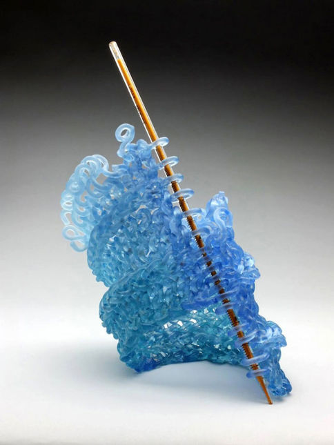 Вязаное стекло Кэрол Милн