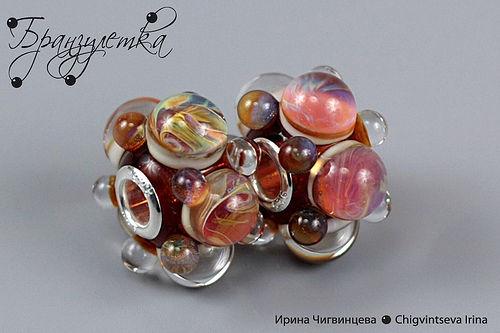 "Beads Pandora style ""Crystal rain"""
