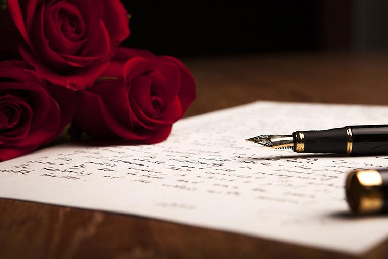 Подписать открытку, открытка ручка с цветами