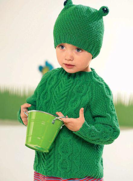 vyazanie-zelenogo-pulovera-dlya-devochki