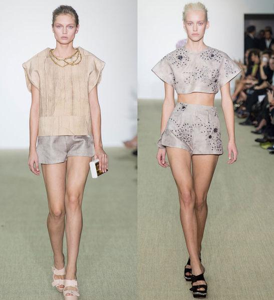 Модные мини-шорты весна-лето 2014 от Giambattista Valli