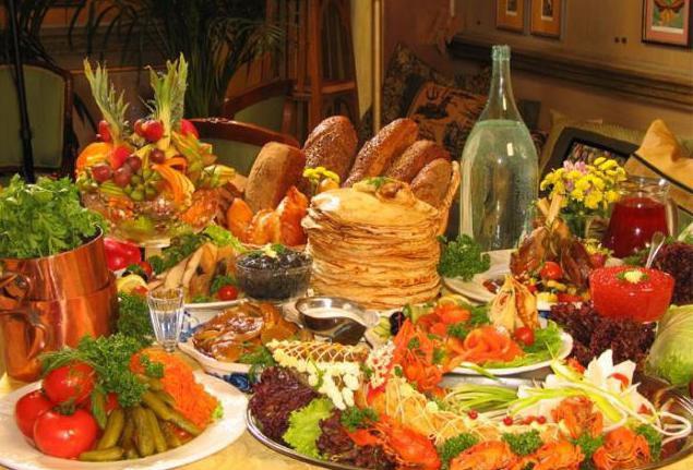 картинка стол с едой