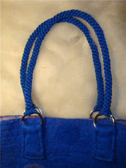 Плетеные ручки для сумки своими руками 85