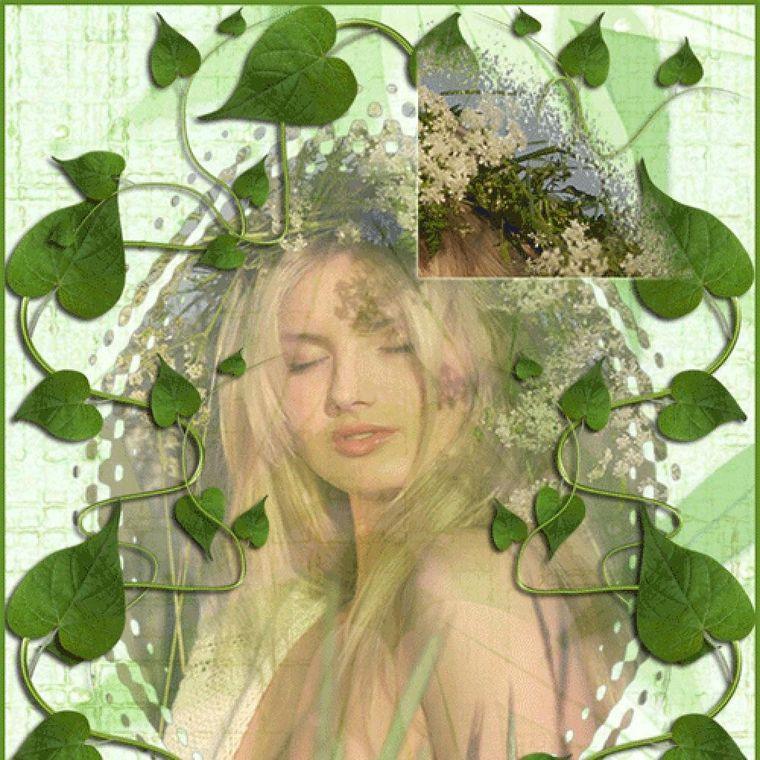 Анимированные картинки девушки весна