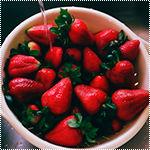 Ягоды, фрукты смайлик