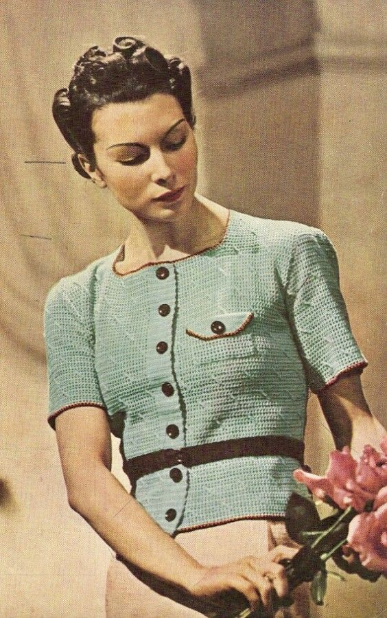 Etsy's knittedcouture sells this 1938 #vintage #crochet jumper pattern