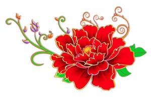 Красный цветок картинка, Картинки клипарт