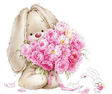 Картинки по запросу цветы с зайкой