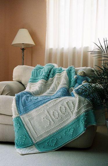 PRAYER pattern for crocheted blanket