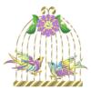 Сиреневые птицы в клетке