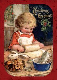 Girl Making Cookies:
