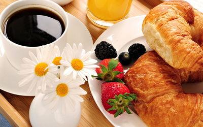 еда, завтрак, Кофе