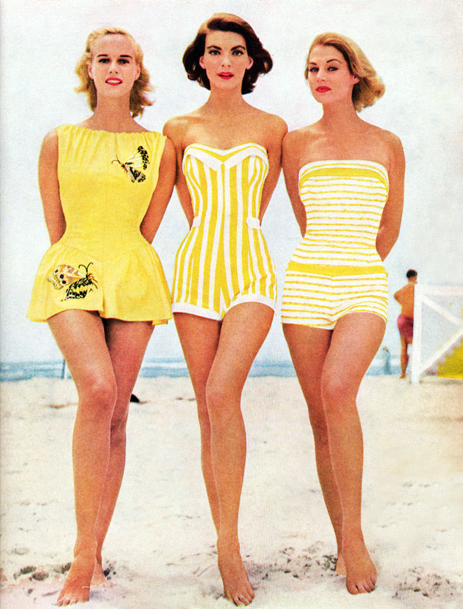 Картинки по запросу ladies from 50s beach