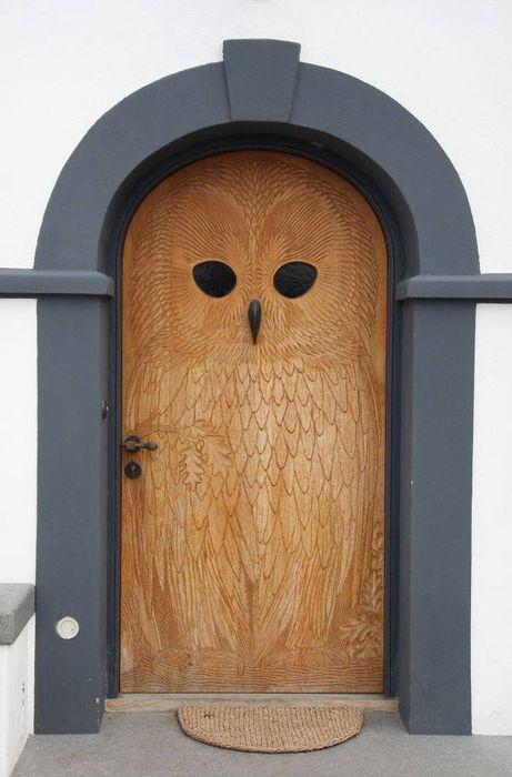 Owl door - found on fb