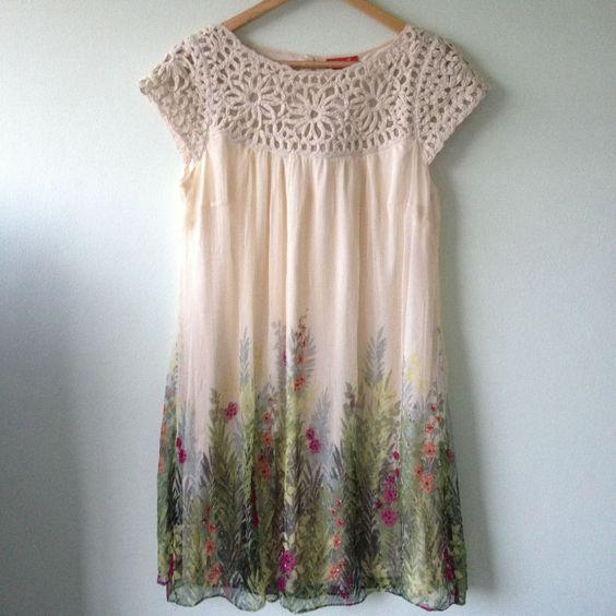European Wardrobe crochet floral dress      ♪ ♪ ... #inspiration #diy GB <a href=