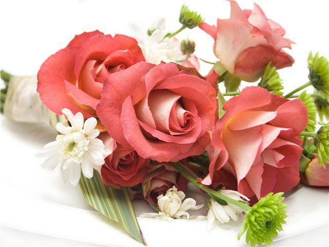 Обои Букеты, композиции, обои для рабочего стола Букеты, композиции, фотографии розы, хризантемы, Обои для рабочего стола, скача
