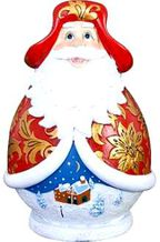 """Копилка """"Дед Мороз"""" Прекрасная новогодняя копилка ручной росписи станет поводом для новых денежных накоплений. Высота: 13 см.Тип"""