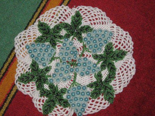 флористика, плетённая салфетка, береза