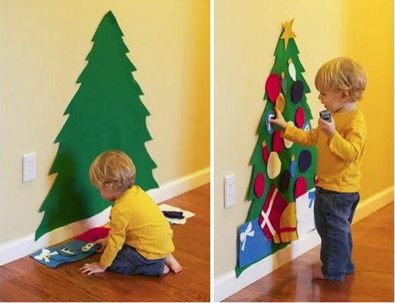 Ёлка на стене своими руками: интересные новогодние идеи