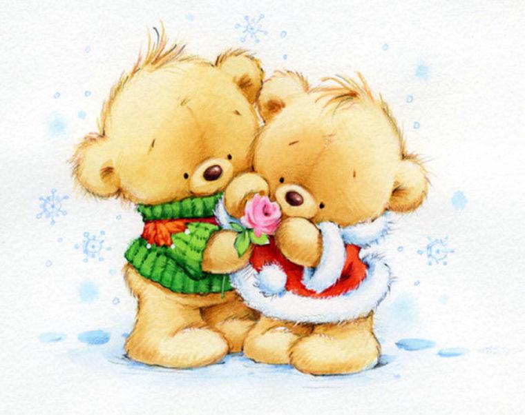 новогодние картинки медвежатами установке ступицы стойку