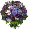 Букет сине-голубых и лиловых цветов
