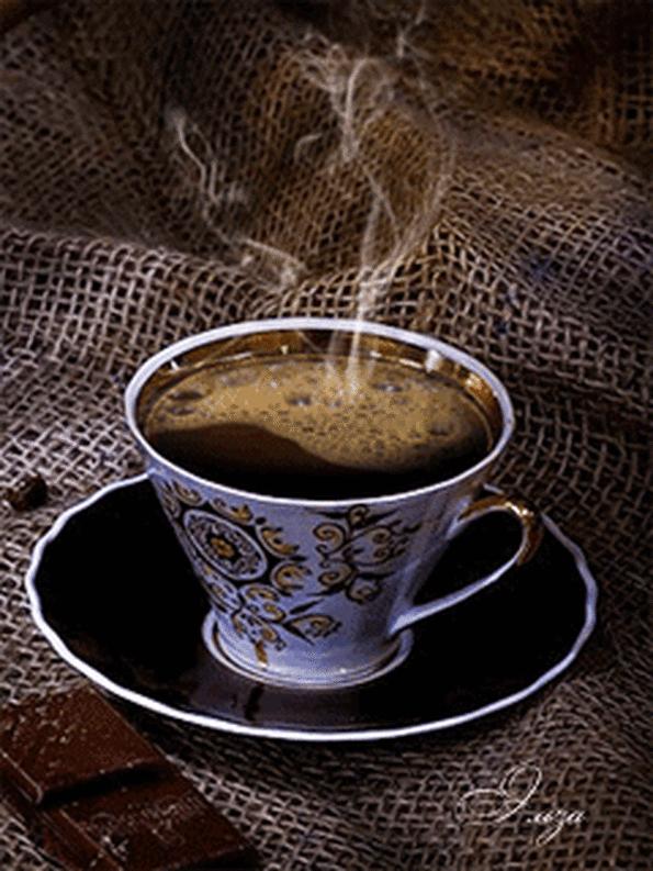 Картинка анимация чашка кофе, новый год