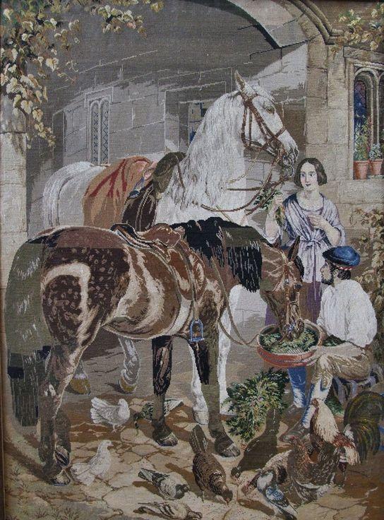 19th Century wall-hanging of horses, original hangs in an Irish museum.