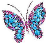 Бабочка. Камушки