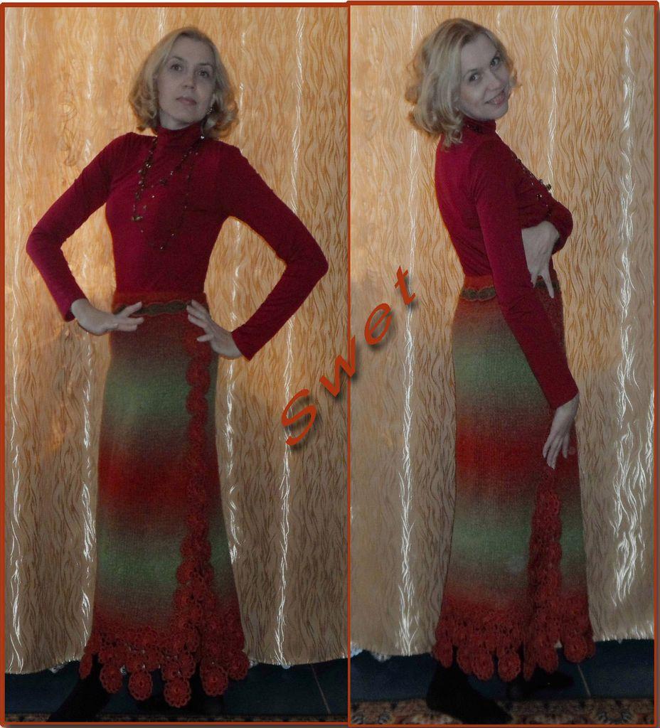 Платье тунисское вязание 58